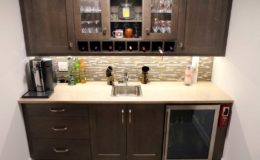 River Height New Build Basement Wet Bar